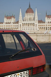 Old car in Budapest by lsdpix