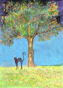 Herbstbaum-katze