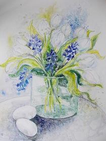 weiße Tulpen von Dorothy Maurus