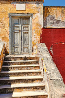 Ruined house in Hydra, Greece by Constantinos Iliopoulos