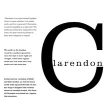 Typography Knowledge - Clarendon von rachelmazel014013