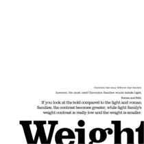 Typography Knowledge - Weight by rachelmazel014013