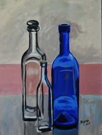 Stilleben Flaschen von Monika Missy