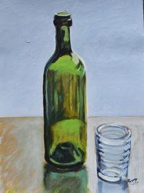 Glasflasche mit Glas von Monika Missy