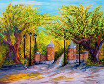 Toomer's Corner Oaks by eloiseart