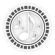 Klaviatur mit Noten by dresdner
