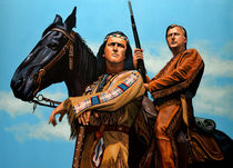 Winnetou and Old Shatterhand painting by Paul Meijering