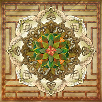 Mandala Leaf Rosette V2 by Peter  Awax