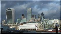 London, Details Skyline Riverside(Caro-van-Ruit) von Caro Rhombus van Ruit