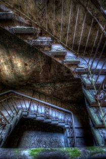 Landry stairs going down  by Nathan Wright