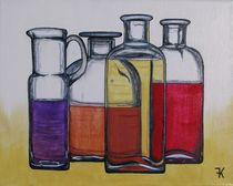 Stillleben - Flaschen by Karin Fricke