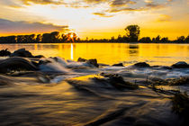 Rhein in sunset by Stefan Tomasevic