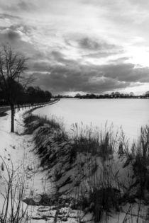 Schneelandschaft in schwarz-weiß by gilidhor