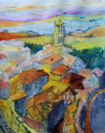 Cortona von oben by Gerhard Stolpa