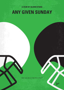 No420 My ANY GIVEN SUNDAY minimal movie poster von chungkong