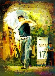 Golf Hole 17 von Miki de Goodaboom