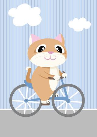 Mobil-serie-fahrrad-katze