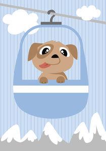 Mobil Serie Seilbahn Hund by Michaela Heimlich