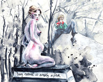Oscar Wilde and The Naked Lady von Miki de Goodaboom