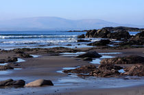 Rock Ponds On Sandy Beach by Aidan Moran