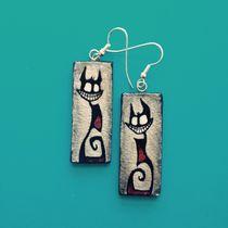 EVIL Kitten Earrings von Dora Vukicevic