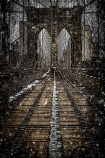Brooklyn Bridge In Winter by Chris Lord