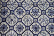 Blaue Azulejos - Fliesenkunst Lissabon von Heike Nedo