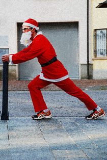 Father Christmas training by ANNA CAMORALI