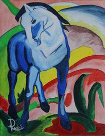 Franz Marc ́s Blaues Pferd 1 von Rudolf Urabl