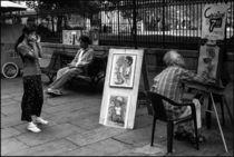 New Orleans Photo of a Street Artist von Michael Whitaker