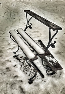 one bench in snow von Michael Naegele