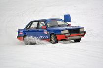 Audi Quattro beim Eisrennen - Ice Race von Mark Gassner