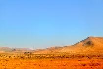 Malerische Landschaft in der Wüste von Marokko by Gina Koch