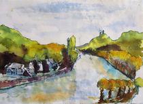 Rhein und Drachenfels von Gerhard Stolpa