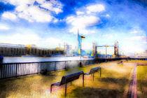 River Thames View Art von David Pyatt