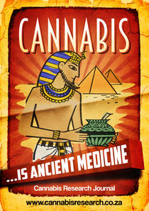 fine art cannabis is ancient medicine by cannabis-retro-artist
