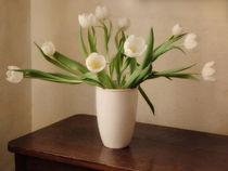 white tulips von Franziska Rullert