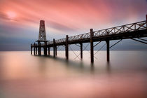 Wooden Pier at Dawn by David Hare