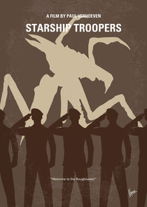 No424 My Starship Troopers minimal movie poster von chungkong