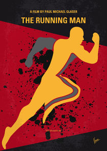 No425 My Running man minimal movie poster von chungkong