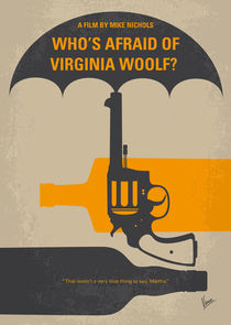 No426 My Whos Afraid of Virginia Woolf minimal movie poster by chungkong