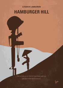 No428 My Hamburger Hill minimal movie poster von chungkong