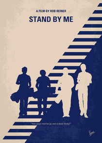 No429 My Stand by me minimal movie poster von chungkong