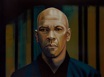 Denzel Washington painting by Paul Meijering