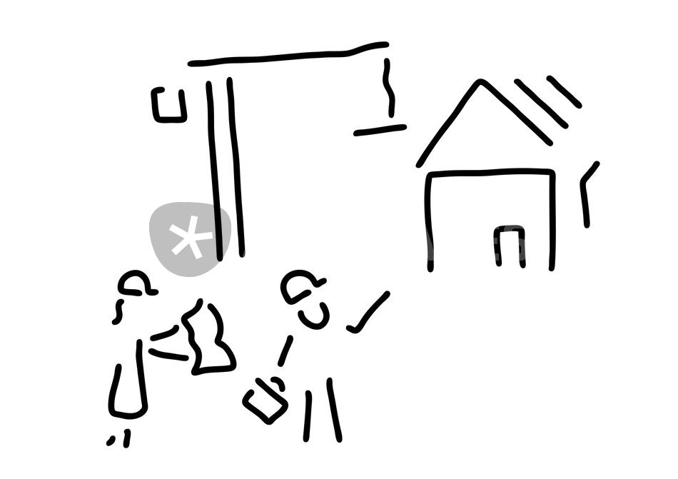bauherr bauingenieur hausbau grafik illustration als poster und kunstdruck von lineamentum. Black Bedroom Furniture Sets. Home Design Ideas