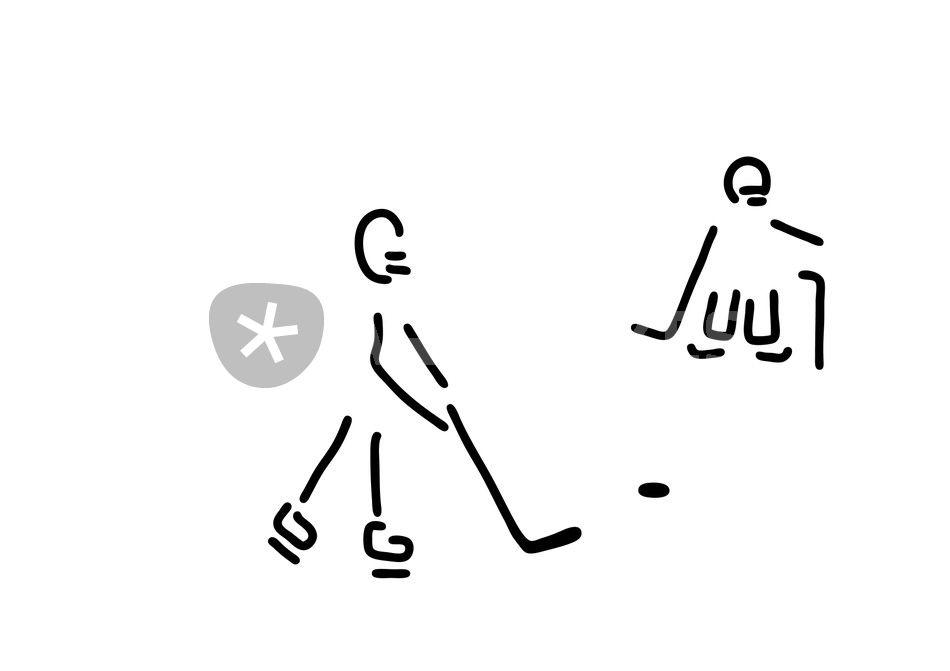 ausmalbild eishockeyspieler  cartoonbild