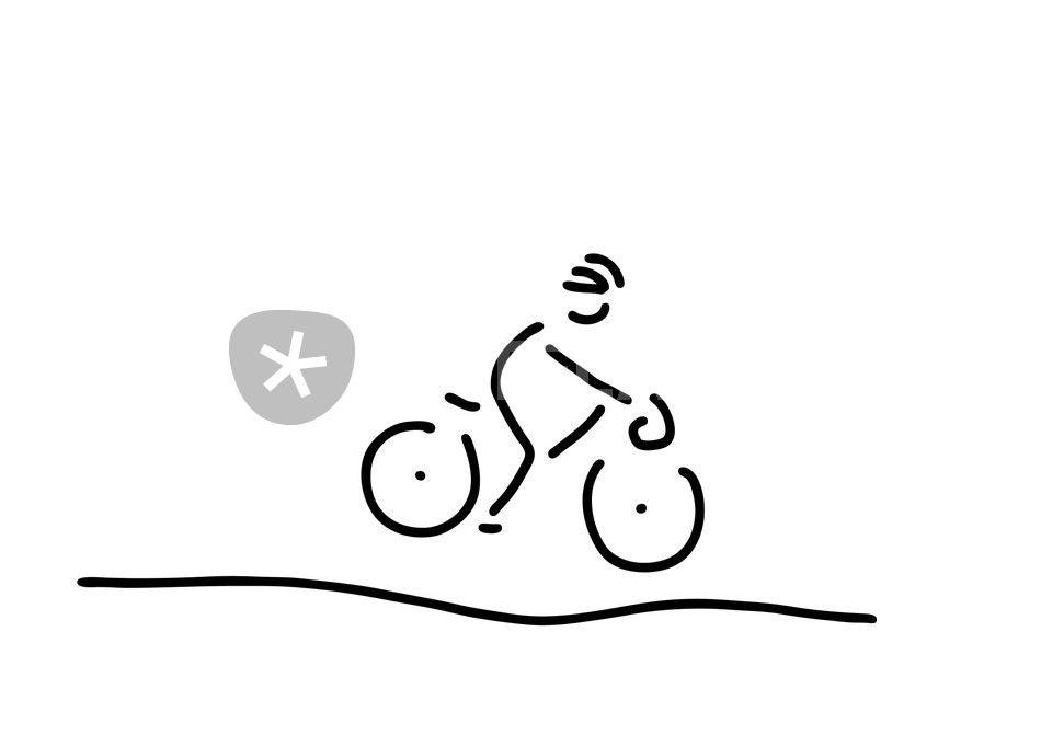 fahrrad tour rennrad fahrer grafik illustration als poster und kunstdruck von lineamentum. Black Bedroom Furniture Sets. Home Design Ideas