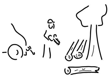 Forstwirt-holzbauer-baumfaeller