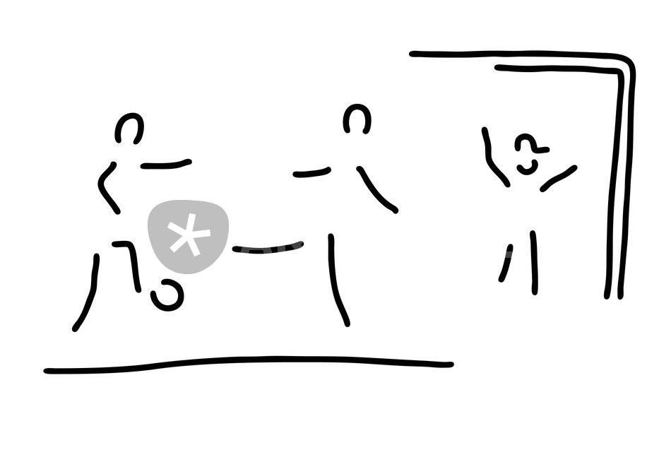 Fussballer Torschuss Fussball Graphic Illustration Art
