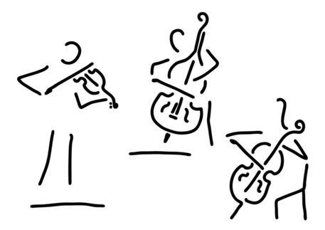Geiger-cellistin-streicher-kontrabass